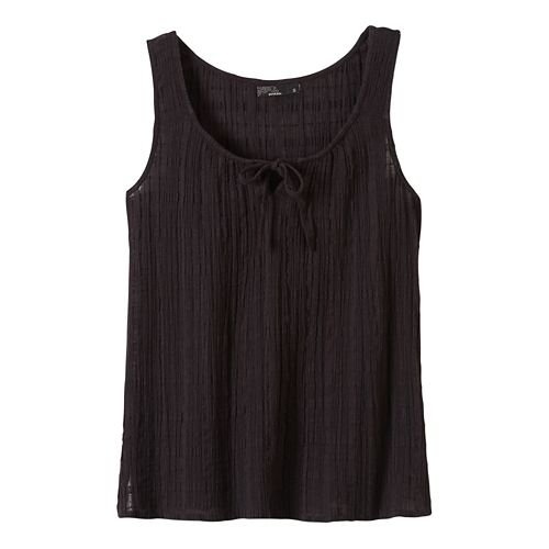 Womens Prana Jardin Sleeveless & Tank Non-Technical Tops - Black XS