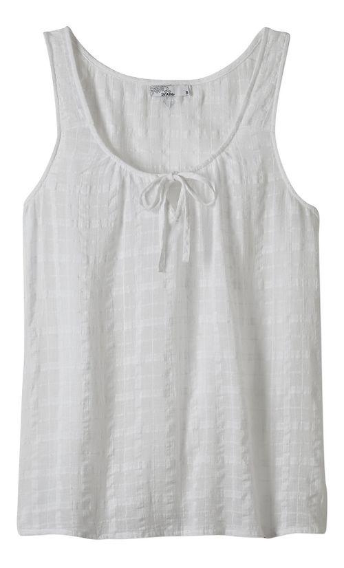 Womens Prana Jardin Sleeveless & Tank Non-Technical Tops - White L
