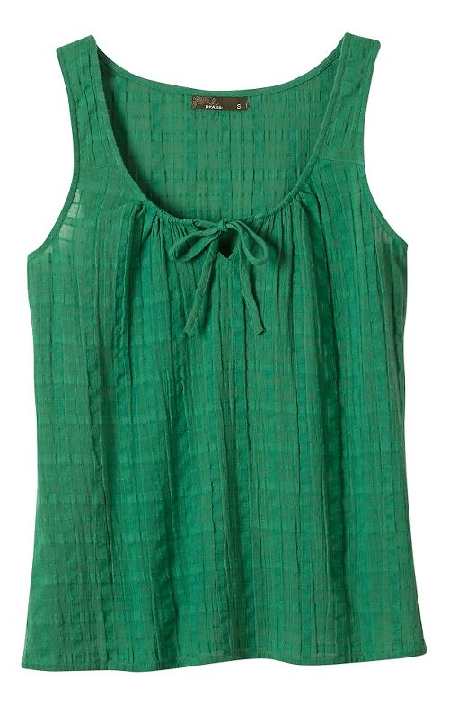 Womens Prana Jardin Sleeveless & Tank Non-Technical Tops - Dusty Pine L