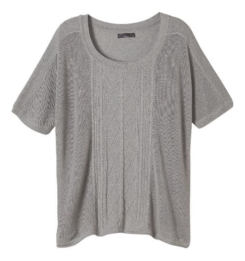 Womens Prana Nadine Sweater Non-Technical Tops - Silver XS