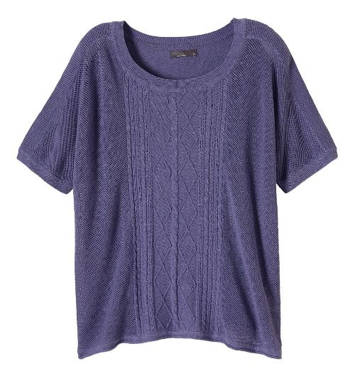 Womens Prana Nadine Sweater Non-Technical Tops - Purple Fog S