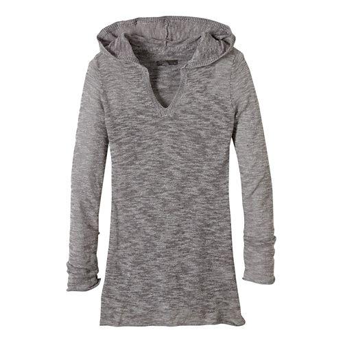 Womens prAna Gemma Sweater Half-Zips & Hoodies Non-Technical Tops - Gravel XL