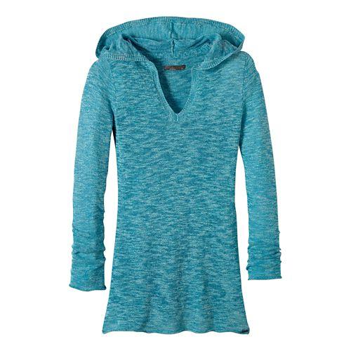 Womens prAna Gemma Sweater Half-Zips & Hoodies Non-Technical Tops - Tidal Teal XL
