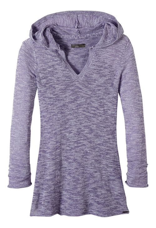 Womens prAna Gemma Sweater Half-Zips & Hoodies Non-Technical Tops - Dusted Peri XL