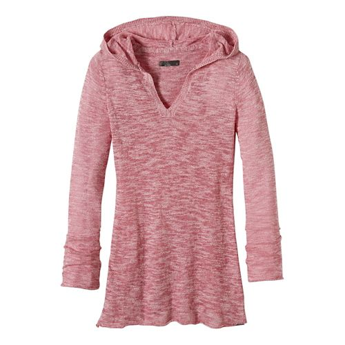 Womens prAna Gemma Sweater Half-Zips & Hoodies Non-Technical Tops - Red Slate S