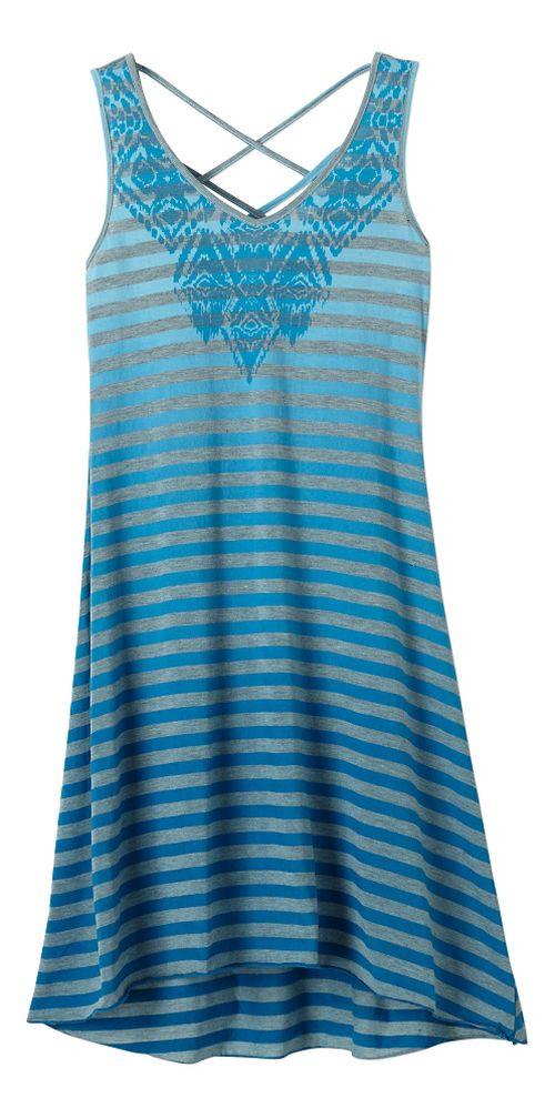 Womens Prana Henna Dresses - Electro Blue M