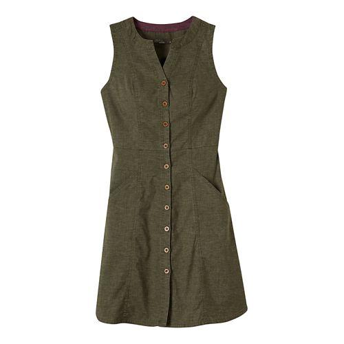Womens Prana Reanne Dresses - Cargo Green L