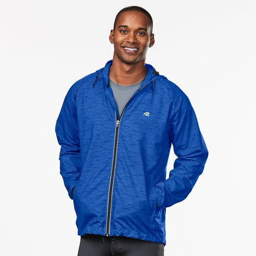 Mens R-Gear Vent It Out Printed Running Jackets - Cobalt/Black XL