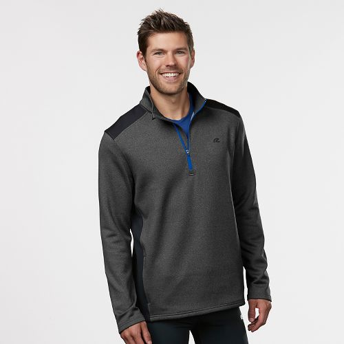 Mens R-Gear Heat Seeker Long Sleeve Half Zip Technical Tops - Heather Charcoal L