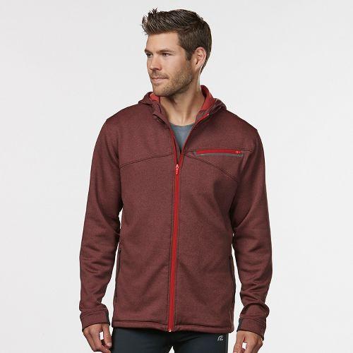Mens R-Gear Heat Seeker Hooded Fleece Hoodie & Sweatshirts Technical Tops - Heather Red Zone XL
