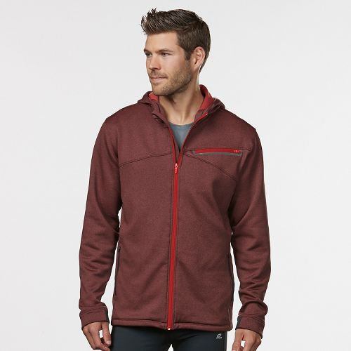 Mens R-Gear Heat Seeker Hooded Fleece Hoodie & Sweatshirts Technical Tops - Heather Red Zone XL