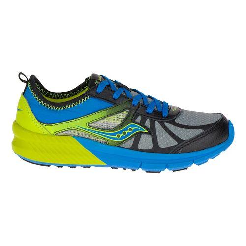 Kids Saucony Volt Running Shoe - Black/Citron 11.5C