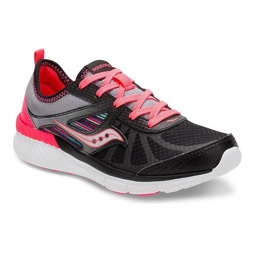 Kids Saucony Volt Running Shoe - Black/Multi 10.5C
