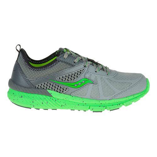 Kids Saucony Volt Running Shoe - Grey/Green 12C