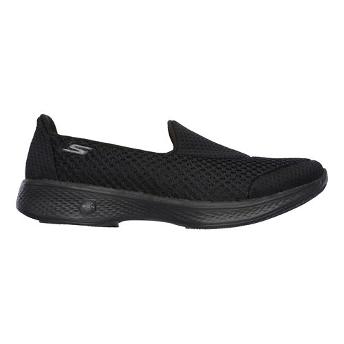 Womens Skechers GO Walk 4 Kindle Casual Shoe - Black 8.5