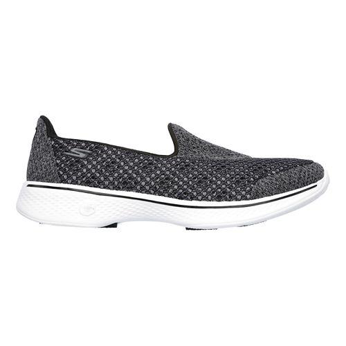 Womens Skechers GO Walk 4 Kindle Casual Shoe - Black/White 7.5