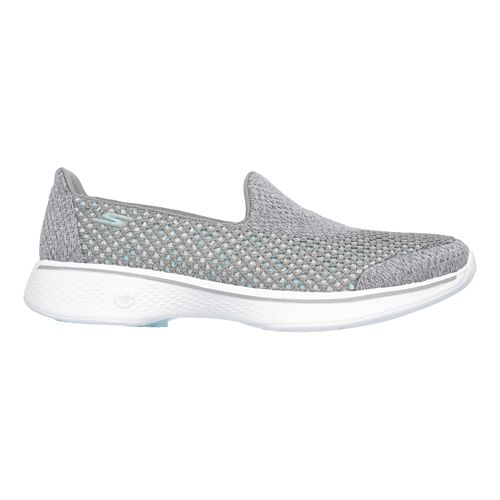 Womens Skechers GO Walk 4 Kindle Casual Shoe - Grey 8.5