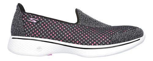 Womens Skechers GO Walk 4 Kindle Casual Shoe - Black/Hot Pink 7.5