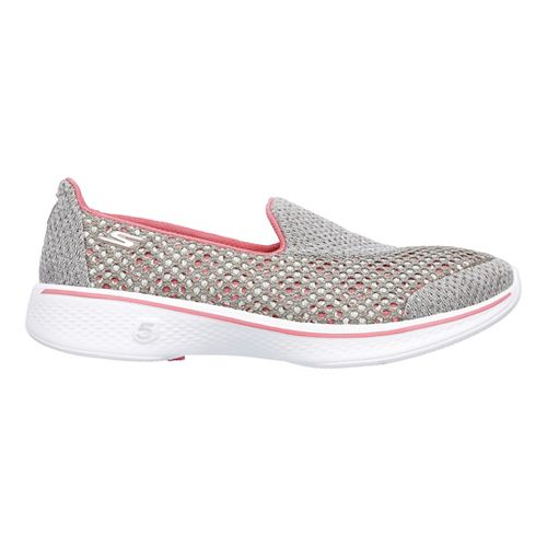 Womens Skechers GO Walk 4 Kindle Casual Shoe - Taupe/Coral 6.5