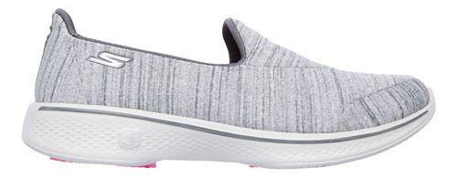 Womens Skechers GO Walk 4 Satisfy Casual Shoe - Grey 10