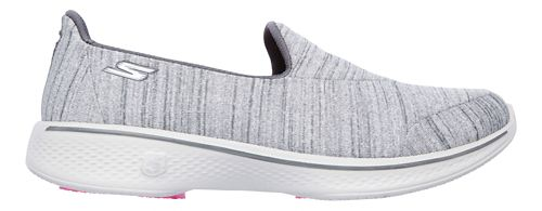 Womens Skechers GO Walk 4 Satisfy Casual Shoe - Grey 11