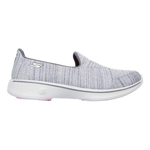 Womens Skechers GO Walk 4 Satisfy Casual Shoe - Grey 8.5