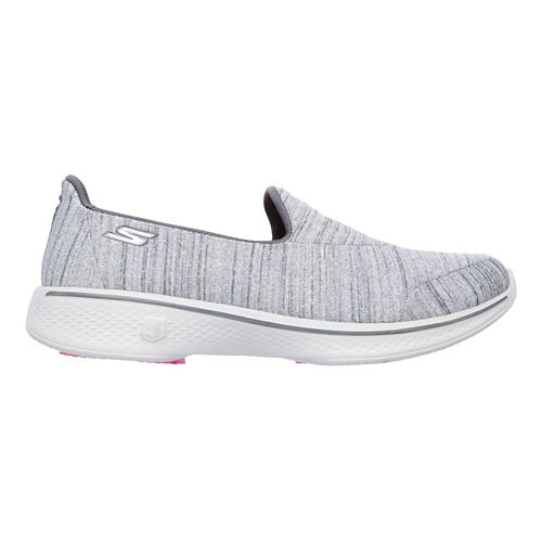 Womens Skechers GO Walk 4 Satisfy Casual Shoe - Grey 9.5