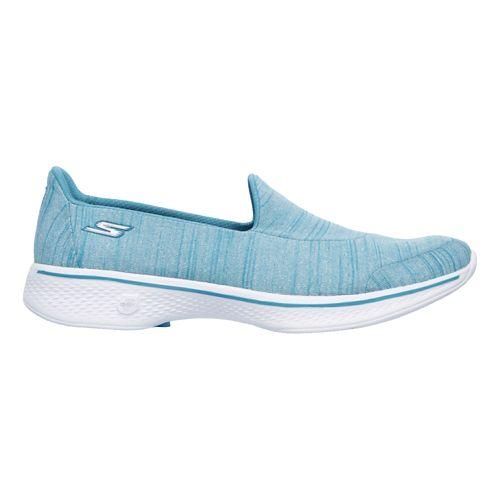 Womens Skechers GO Walk 4 Satisfy Casual Shoe - Turquoise 10