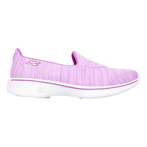 Womens Skechers GO Walk 4 Satisfy Casual Shoe - Purple 6.5