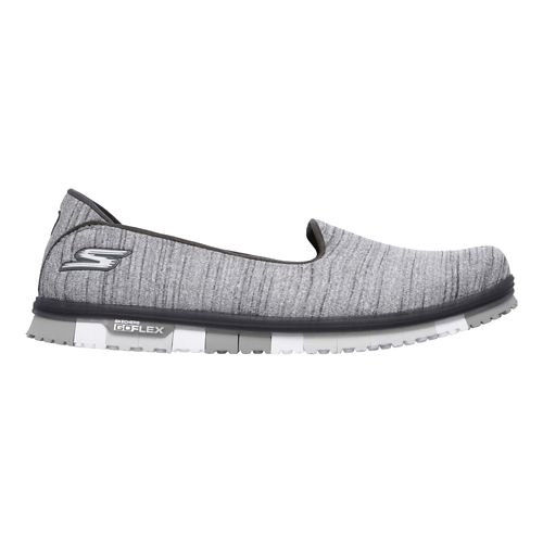 Womens Skechers GO Mini Flex Casual Shoe - Grey 8.5