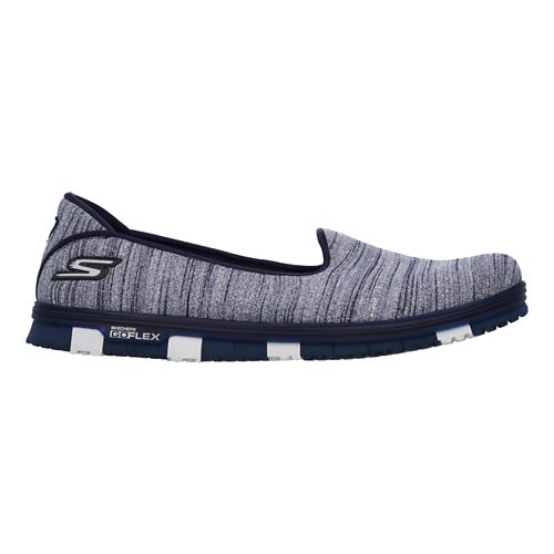 Womens Skechers GO Mini Flex Casual Shoe - Navy 10
