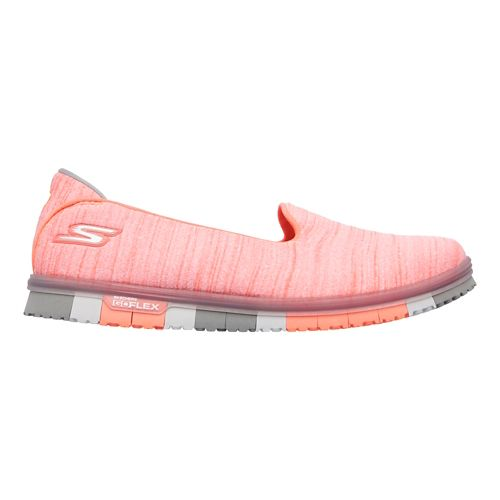 Womens Skechers GO Mini Flex Casual Shoe - Coral 5.5