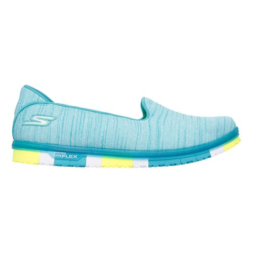 Womens Skechers GO Mini Flex Casual Shoe - Turquoise/Lime 5.5