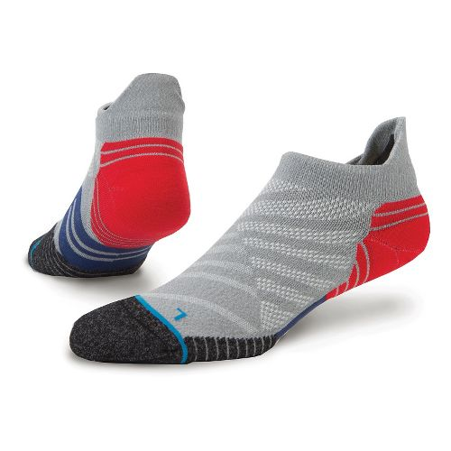 Mens Stance Fusion Run Obstruct Tab Socks - Grey M