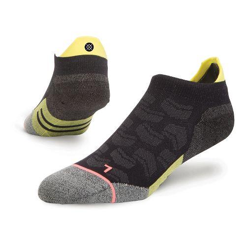 Womens Stance Fusion Run Kinetic Tab Socks - Black M