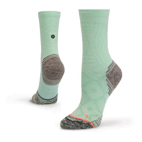 Womens Stance Fusion Run Race Day Crew Socks - Mint M