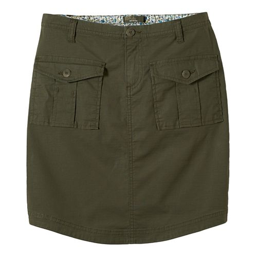 Womens Prana Katt Fitness Skirts - Cargo Green M
