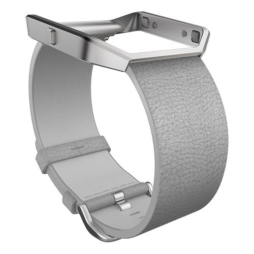 Fitbit Blaze Luxe Leather Watch Band Monitors - Mist Grey L