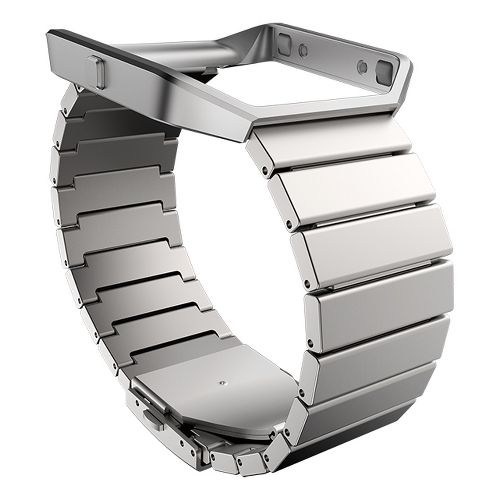 Fitbit Blaze Luxe Stainless Steel Watch Band Monitors - Stainless Steel