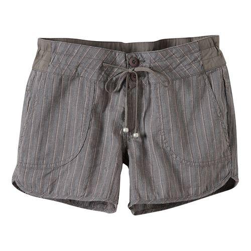 Womens Prana Vinia Unlined Shorts - Moonrock 12
