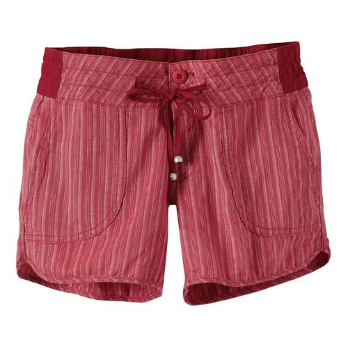 Womens Prana Vinia Unlined Shorts - Sunwashed Red 10