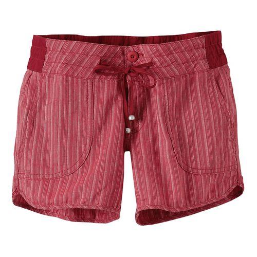 Womens Prana Vinia Unlined Shorts - Sunwashed Red 12