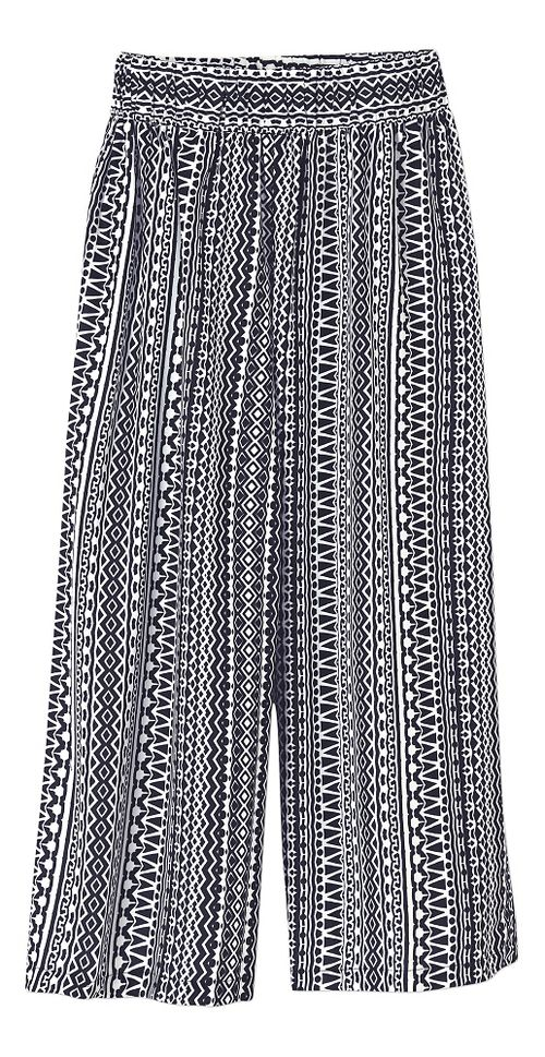 Womens Prana Kiran Culotte Capris Pants - Black S