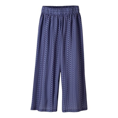 Womens Prana Kiran Culotte Capris Pants - Purple Fog S