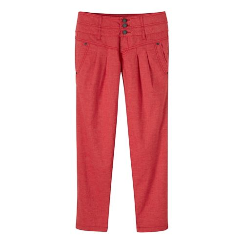 Womens Prana Lizbeth Capris Pants - Sunwashed Red 12
