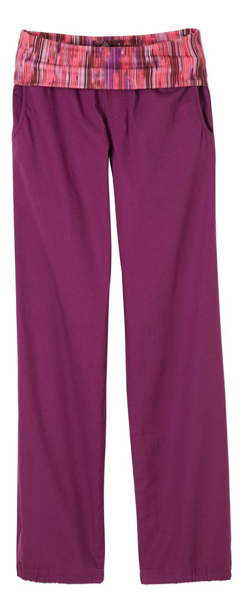 Womens prAna Sidra Pants - Light Red Violet S