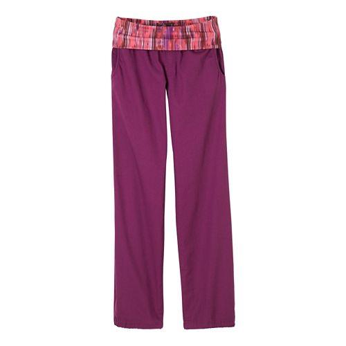 Womens prAna Sidra Pants - Light Red Violet L