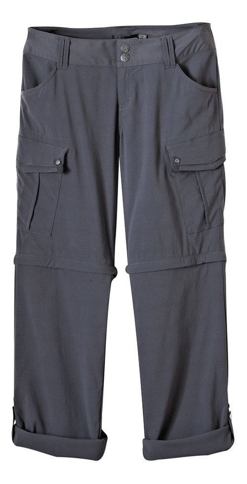 Womens Prana Sage Convertible Pants - Coal 2-T