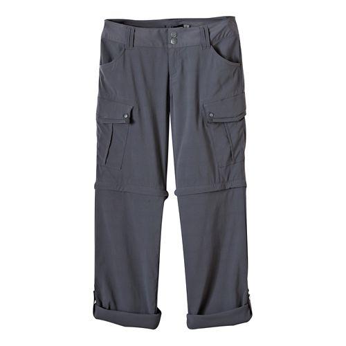 Womens Prana Sage Convertible Pants - Coal 2-T