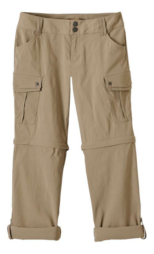 Womens Prana Sage Convertible Pants - Dark Khaki 6-S